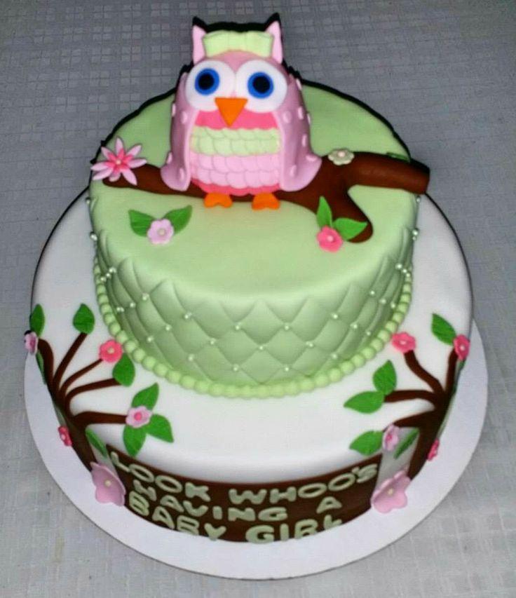 owl baby shower cake babyshower cake pinterest