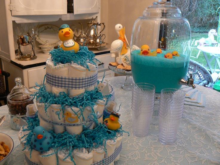 rubber ducky theme baby boy shower pinterest