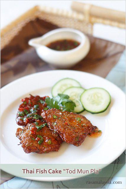 Thai Fish Cake (Tod Mun Pla) - chili sauce, cucumber #seafood