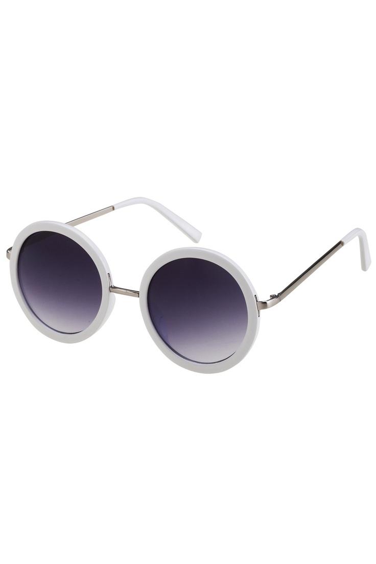 My Glasses Frames Turning White : White Round Frame Sunglasses