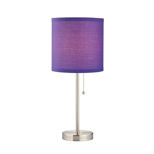 design classics pauz table lamp with purple linen lamp shade 1900 09. Black Bedroom Furniture Sets. Home Design Ideas