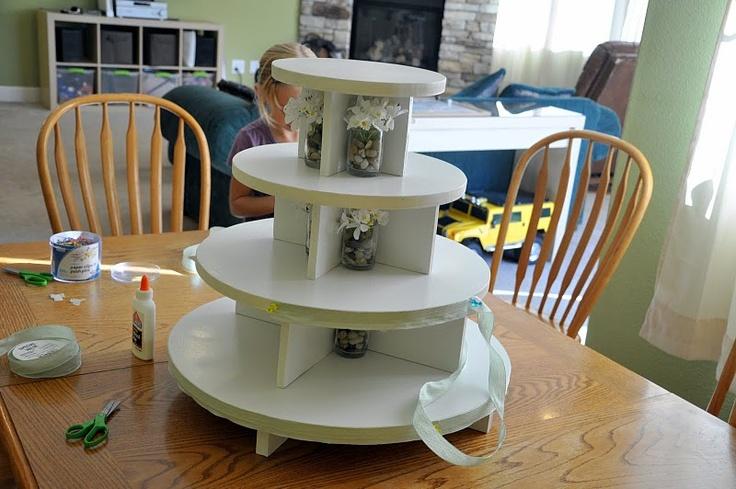 DIY wooden cupcake stand #wedding | Sweets | Pinterest
