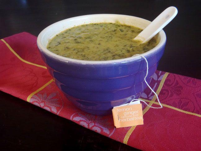 Quick Lemon Ginger Green Soup