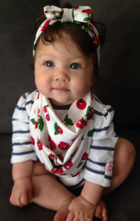 matching baby scarf bib bow headband other prints