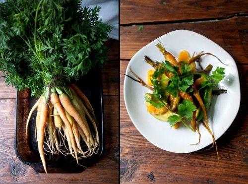 Roasted Carrot, Avocado and Orange Salad | Salads | Pinterest