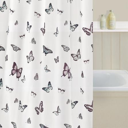 butterfly shower curtain dunelm mill home