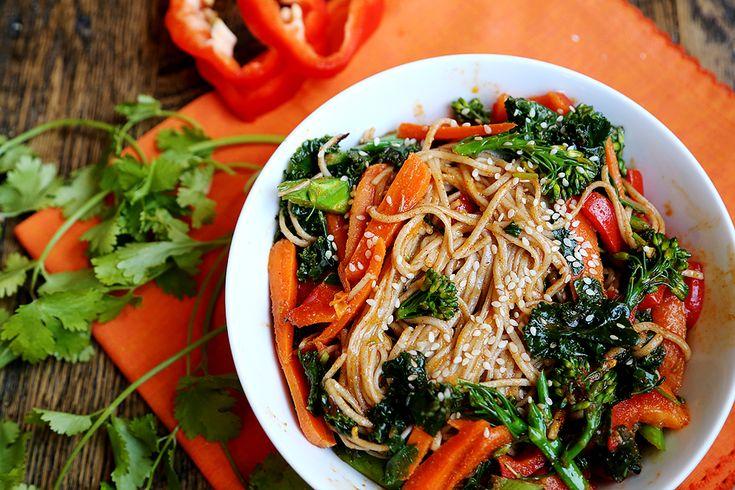 Soba Noodle & Raw Veggie Salad Recipe — Dishmaps