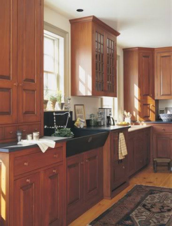 Arts And Crafts Kitchen Cabinets Arts And Crafts Cabinets I 39 M Liking The Sink And The Varying Heights