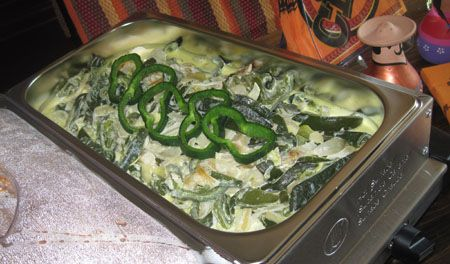 Rajas con Crema. Roasted Poblano Strips in Cream. Delicious in soft ...