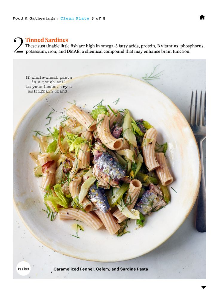 Pasta with Caramelized Fennel, Celery, and Sardines