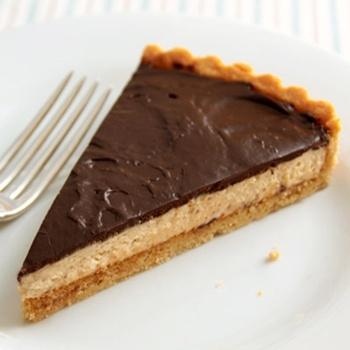 No-Bake Chocolate Peanut Butter Mousse Tart