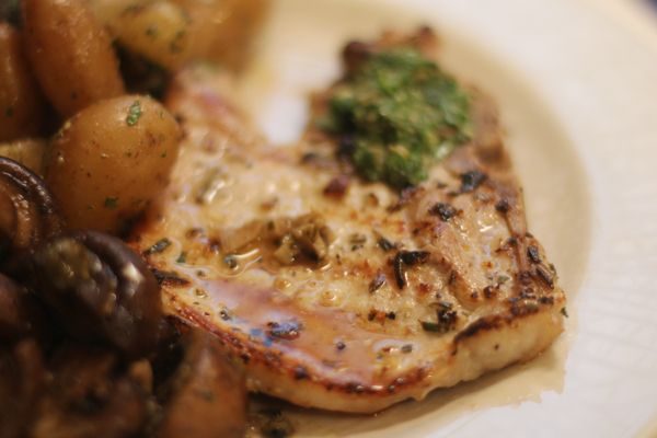 Rosemary And Garlic Simmered Pork Chops Recipes — Dishmaps
