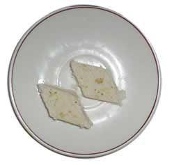 Burfi cheese cake
