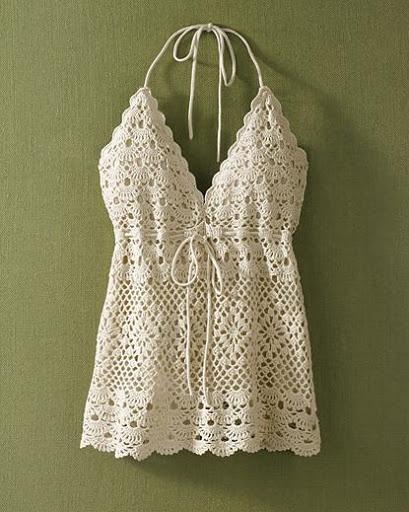 Crochet Halter Top : Love this Boho Halter Top! Crochet Hands / Feet / Clothes ...
