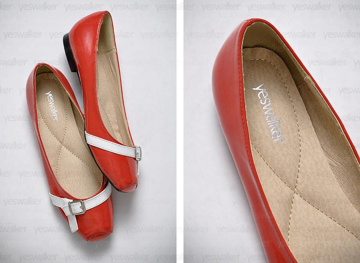 valentino flats red