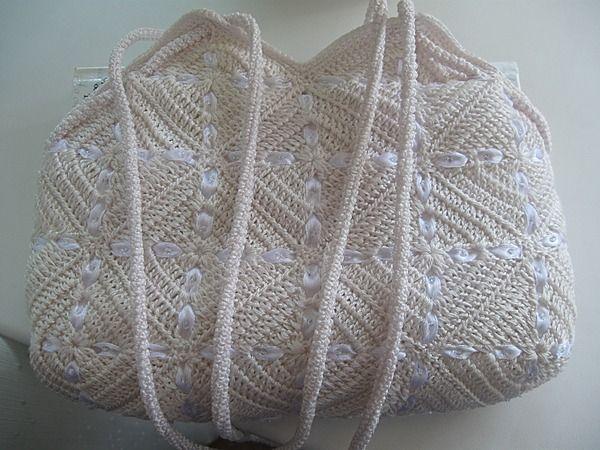 Russian: crochet handbag pattern crochet Pinterest