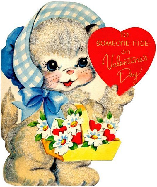 valentine cards cat
