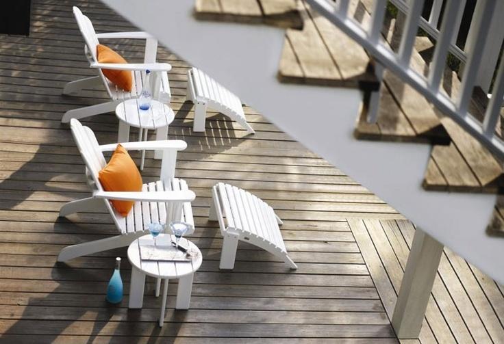 Gloster Estate Adirondack lounge stoel.  Garden  Pinterest