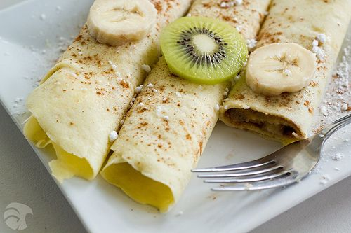 Kiwi And Nutella Crepes Recipe — Dishmaps