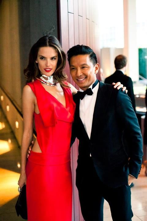 @Prabal Gurung & Alessandra Ambrosio at the 2011 CFDA Fashion Awards. Photo by http://frommetoyou.tumblr.com/