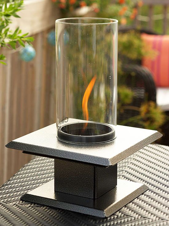 Introduce a Fire Element with a tabletop fire pit.