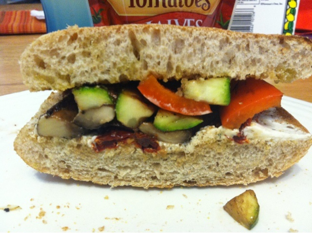 Grilled Veggie and Goat Cheese Sandwich | blog | Pinterest
