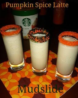 Pumpkin Spice Latte Mudslides (alcoholic or non alcoholic)