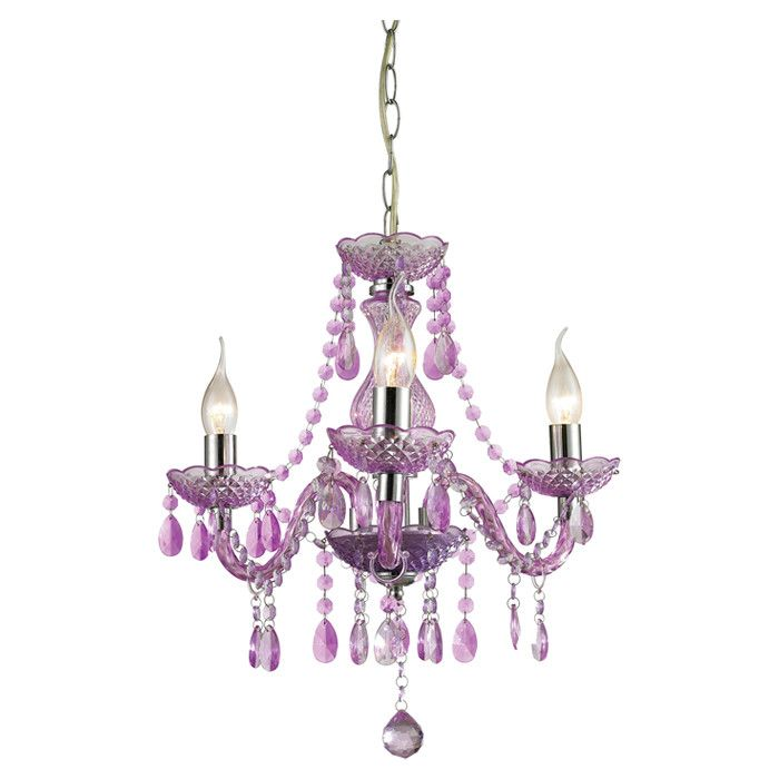 purple mini chandelier vivi s room pinterest