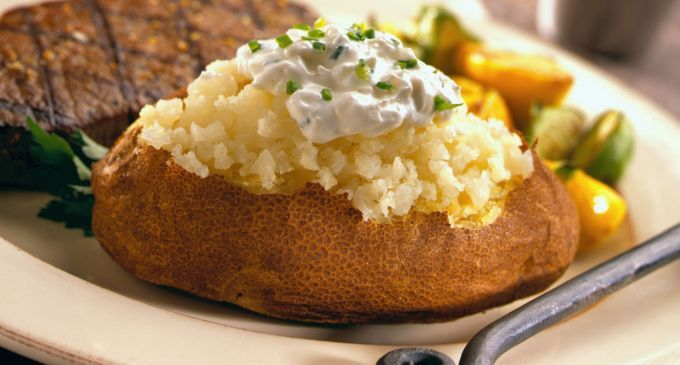Baked Potatoes with Roasted Onion and Sour Cream | Recipe on ...