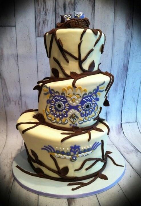 Owl Wedding Cake Owl Or Literary Theme Wedding Jevel