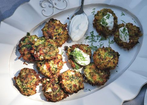 Zucchini Keftedes with Feta and Dill These zucchini fritters are the ...