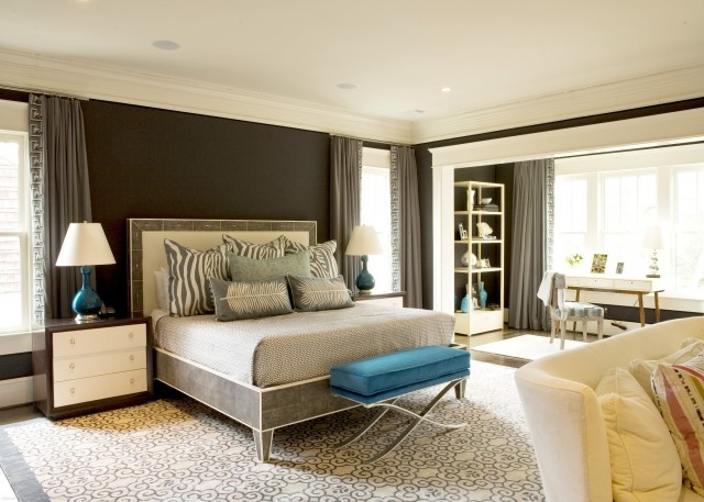 Teal Gray Master Master Bedroom Pinterest
