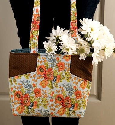 Lazy Girl Fabric Tote Bag Kit Pattern Margo by acquiltfabric, $21.50