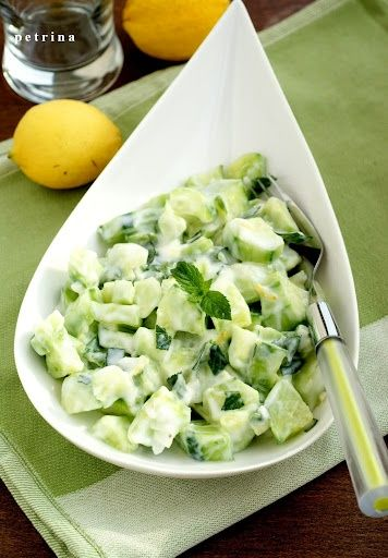 Cucumber Salad with Yogurt | Salads | Pinterest