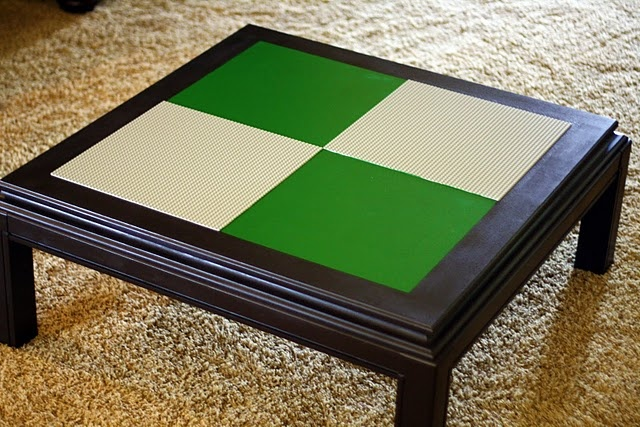 Great Lego table for a play room.....so gonna make this