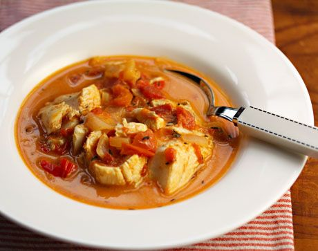 Jamaican run down (fish stew with tomato, peppers and coconut milk ...