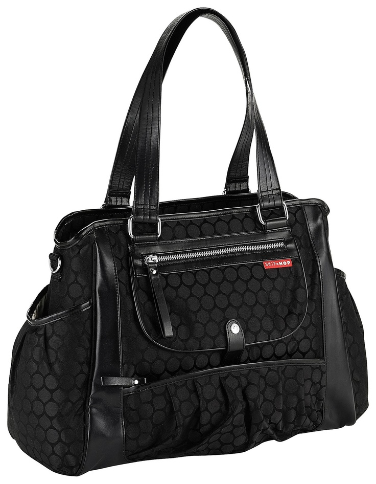 skip hop studio diaper bag black dot. Black Bedroom Furniture Sets. Home Design Ideas