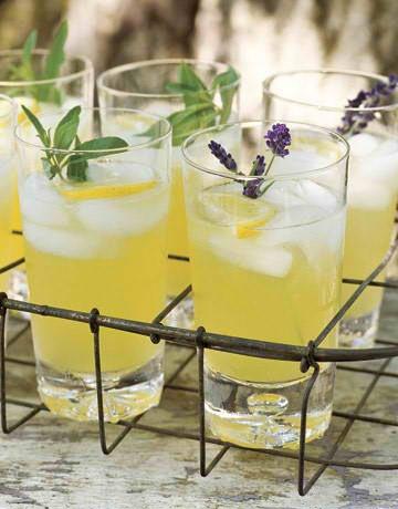 Pineapple Cooler with Fresh Lavender Fresh lavender and lemon verbena ...
