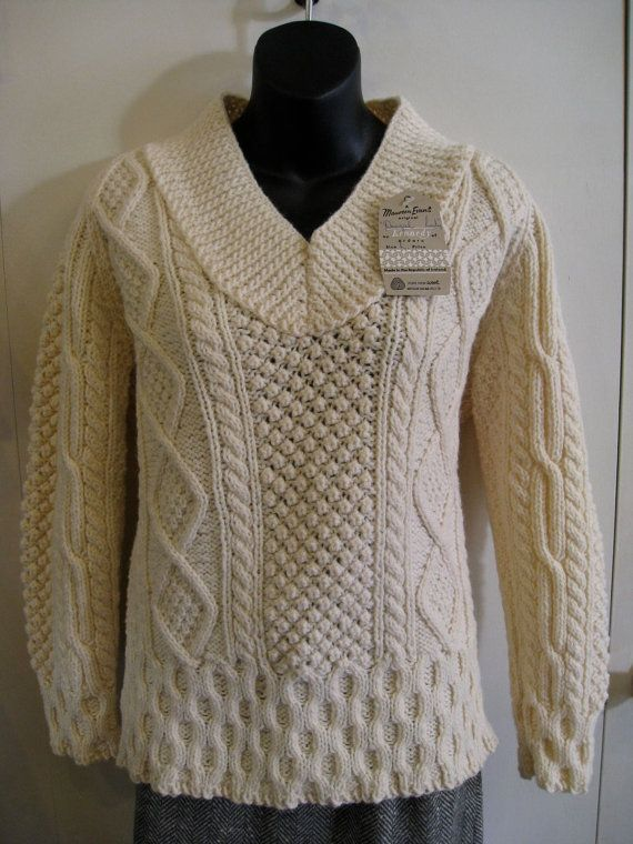 Knitting Patterns For Irish Fisherman Sweaters : Pin by Julie Sparbel on My Retro Style - Separates Pinterest