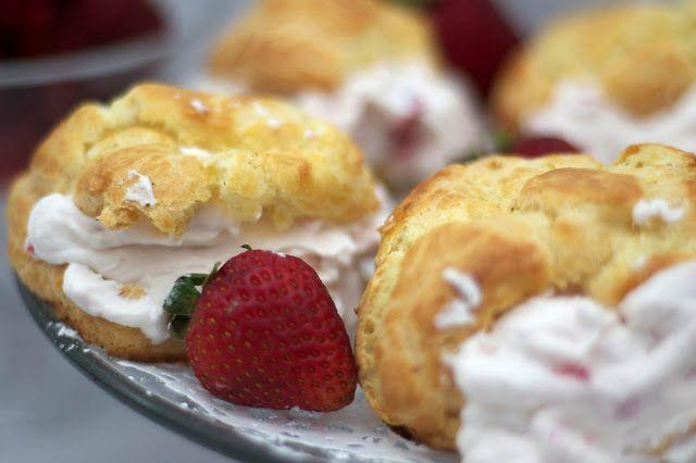 Strawberry Cream Puffs | Harry Potter Recipes for Jen's cookbook | Pi ...