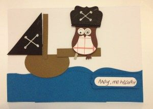 pirate from the Stampin' Up! owl builder punch. Note the peg leg ...