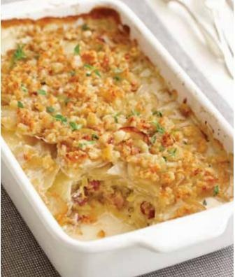 Gratin of potatoes, leeks and pancetta | experience Fall 2012 | Pinte ...