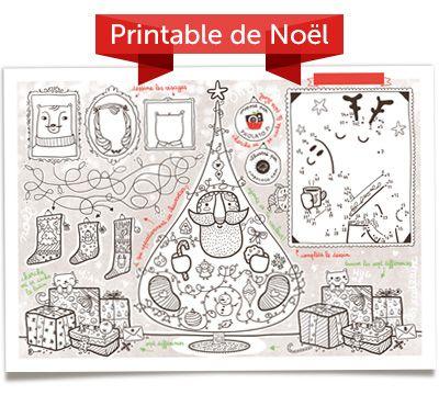 Lámina imprimible para que los peques pinten en Navidad, con juego de unir los puntos de reno >> Free printable Christmas coloring sheet for kids