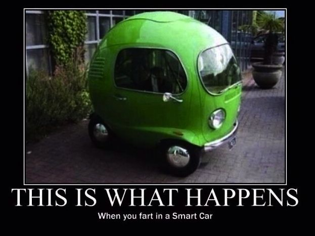 this is what happens when you fart in a smart car funny stuffs pinterest. Black Bedroom Furniture Sets. Home Design Ideas