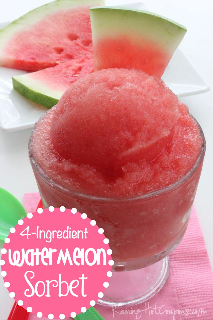 Watermelon Sorbet (Only 4-Ingredients