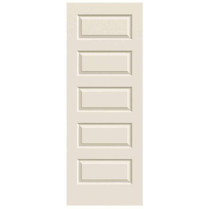 Slab Doors Jeld Wen Doors Smooth 5 Panel Primed Molded