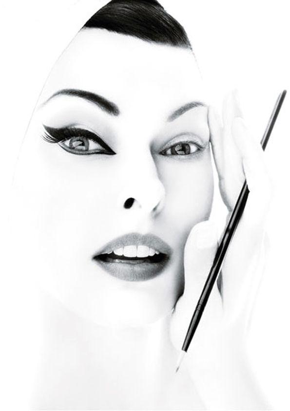 designer womens wallets Linda by Steven Meisel  Black and white