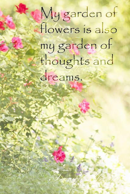A Garden Of Thoughts And Dreams Quotes Sayings Words