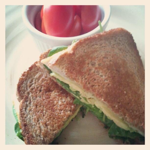 dinner: Green Goddess Grilled Cheese Sandwich: pesto, spinach, avocado ...