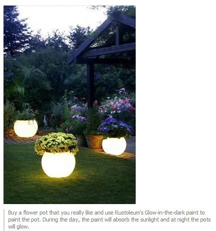 glow in the dark paint for outdoor pots crafty ideas pinterest. Black Bedroom Furniture Sets. Home Design Ideas